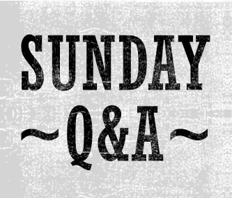 Sunday Q&A: Concepts, Ideas, and Writer's Block
