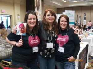 Amie, We Stole Your Book Boyfriend; yours truly; and Renee at the first North Shore Author Signing (TalkBooks) in Massachusetts, April 2014